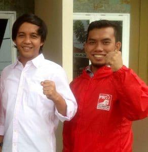 Sekretaris DPP Raja Juli Antoni dan Ketua DPW PSI Sumut Fuaf Ginting. MTD/istimewa