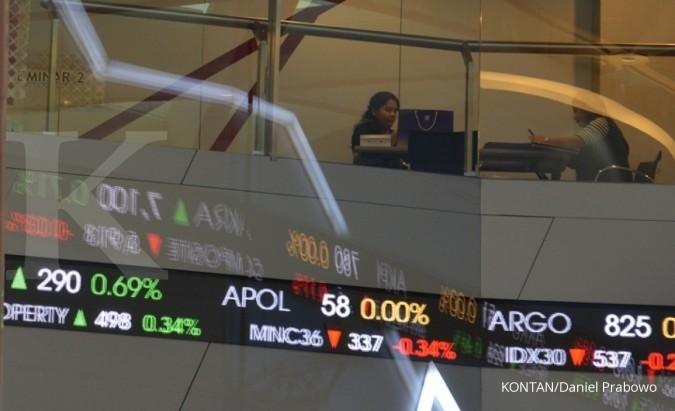 bursa saham; ihsg; bursa efek indonesia; bei; indeks harga saham gabungan; pasar modal di gedung bei jakarta (10/10/2017). KONTAN/Daniel Prabowo