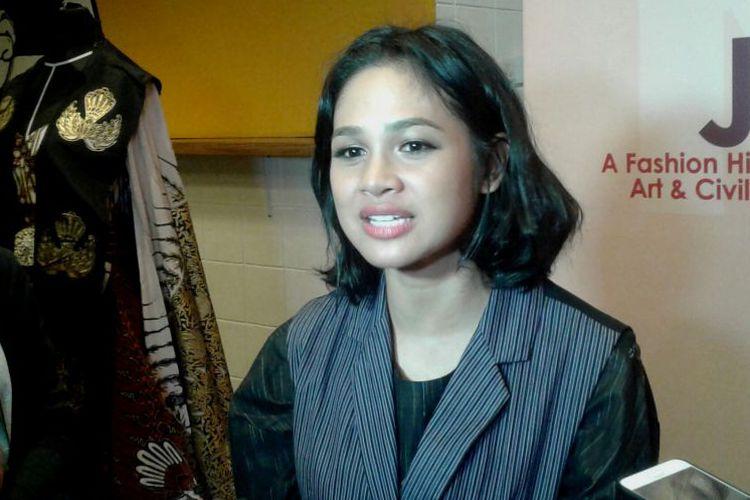 Andien Aisyah dalam sesi wawancara di Qubickle Centre, Senopati, Jakarta Selatan, Kamis (26/10/2017).(KOMPAS.com/DIAN REINIS KUMAMPUNG)