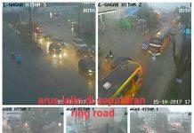 Arus lalu lintas di seputaran Jalan Ringroad terpantau dari ATCS milik Dishub Medan lancar, Minggu (15/10/2017)