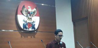 Juru Bicara KPK Febri Diansyah, di gedung KPK, Kuningan, Jakarta, Kamis (23/11/2017).(Kompas.com/Robertus Belarminus)