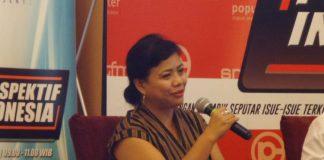 Ahli Tata Hukum Negara, Bivitri Susanti dalam sebuah acara diskusi di Menteng, Jakarta Pusat, Sabtu (18/11/2017).(KOMPAS.com/Nabilla Tashandra)