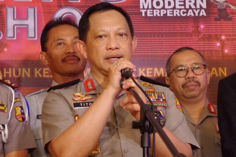 Kapolri Jenderal Pol Tito Karnavian di Hotel Mercure Ancol, Jakarta, Kamis (9/11/2017).(KOMPAS.com/AMBARANIE NADIA)