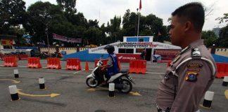 Ujian Praktik untuk mengurus SIM di Satlantas Polrestabes Medan