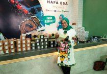 Grand Opening Of Hafa Esa, toko bolu gulung milik Nina Zatulini di Jalan Karya No. 20 D. (mtd/Firi Gayatri).