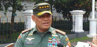 Panglima TNI Jenderal Gatot Nurmantyo di Istana Bogor, Selasa (5/12/2017).(KOMPAS.com/Ihsanuddin)