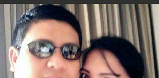 Darmawansyah Sembiring berfoto dengan istri pertamanya
