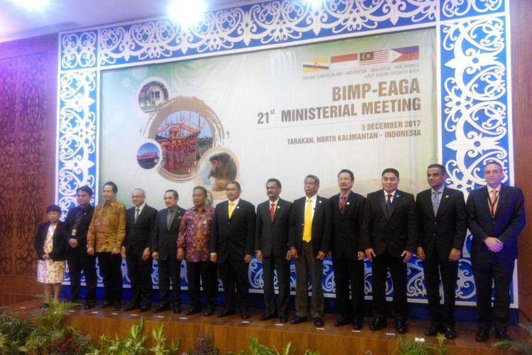 Pertemuan Tingkat Menteri Brunei Darussalam-Indonesia-Malaysia-Philippines East ASEAN Growth Area (BIMP-EAGA) di Tarakan, Kalimantan Utara, Minggu (3/12/2017).(KOMPAS.com/SAKINA RAKHMA DIAH SETIAWAN)