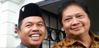 Dedi Mulyadi bersama Airlangga Hartarto.(KOMPAS.com/Putra Prima Perdana)