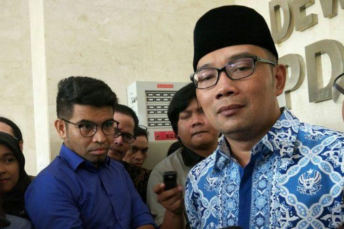 Wali Kota Bandung Ridwan Kamil ketika ditemui usai berkunjung ke kantor DPP PDI-P, di Jalan Diponegoro, Jakarta Pusat, Rabu (3/1/2018).(KOMPAS.com/ MOH NADLIR)